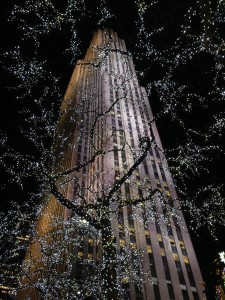 Rockefeller center lights